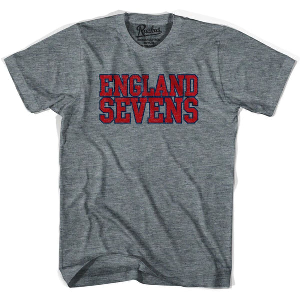 England Sevens Rugby T-shirt - Athletic Grey / Adult Small - Rugby T-shirt