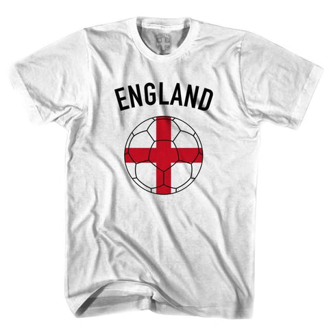 England Soccer Ball T-shirt-Adult - White / Adult Small - Ultras Soccer T-shirts