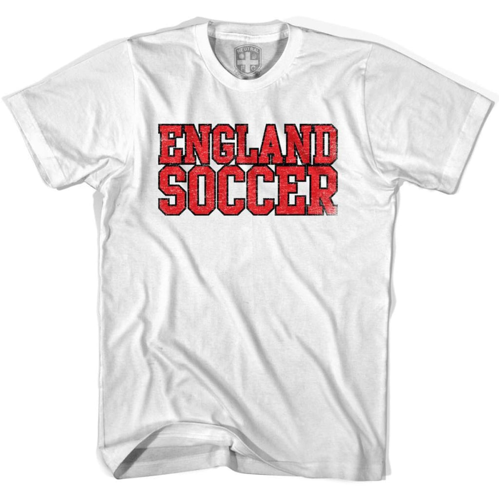 England Soccer Nations World Cup T-shirt - White / Youth X-Small - Ultras Soccer T-shirts