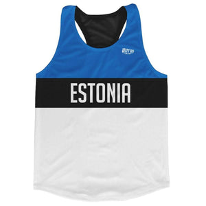 Estonia Country Flag Running Shirt Track Cross Country Performance Top Made in USA