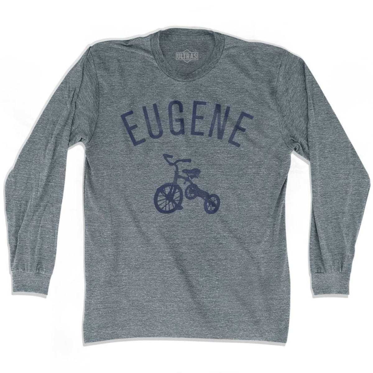 Eugene City Tricycle Adult Tri-Blend Long Sleeve T-shirt - Tricycle City
