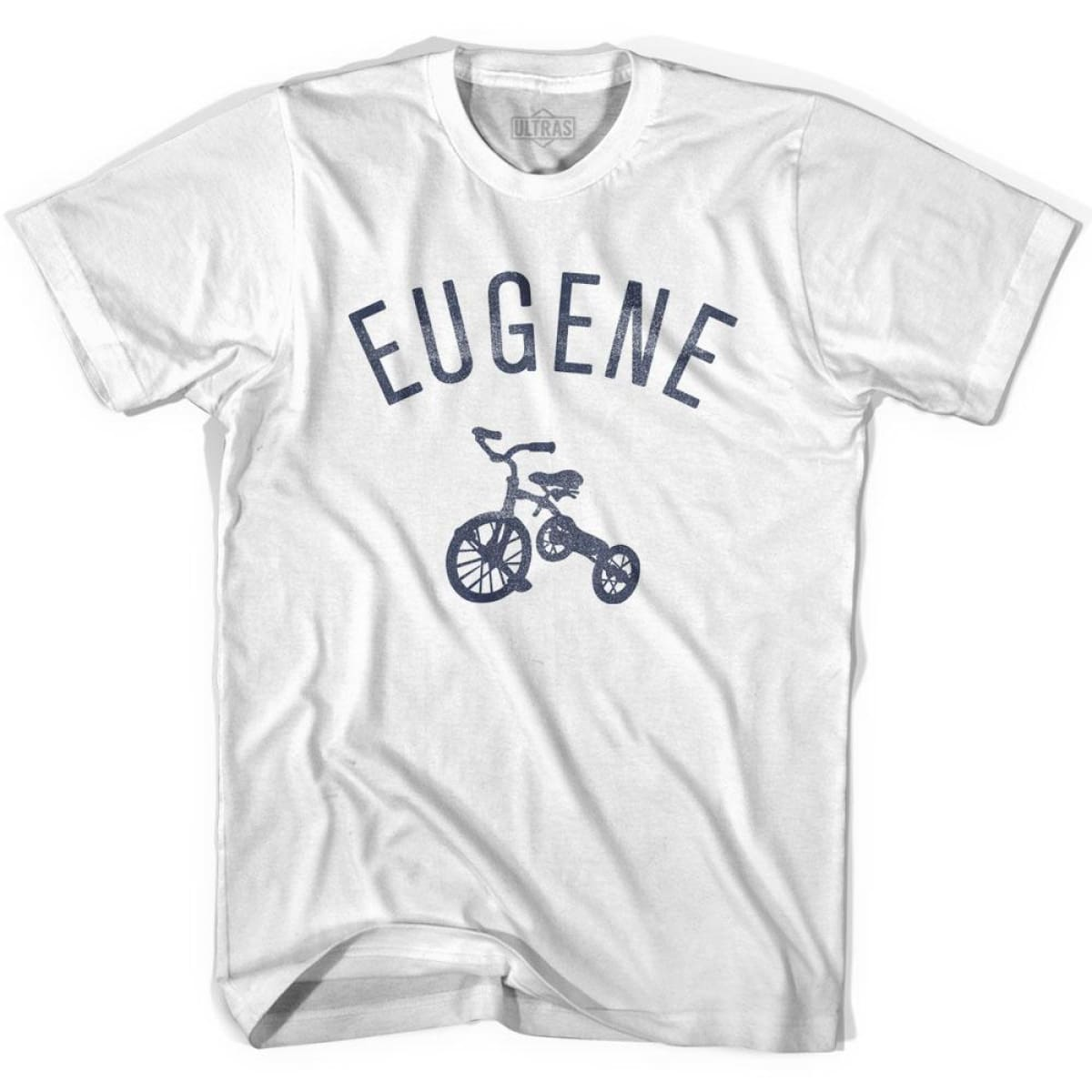 Eugene City Tricycle Womens Cotton T-shirt - Tricycle City