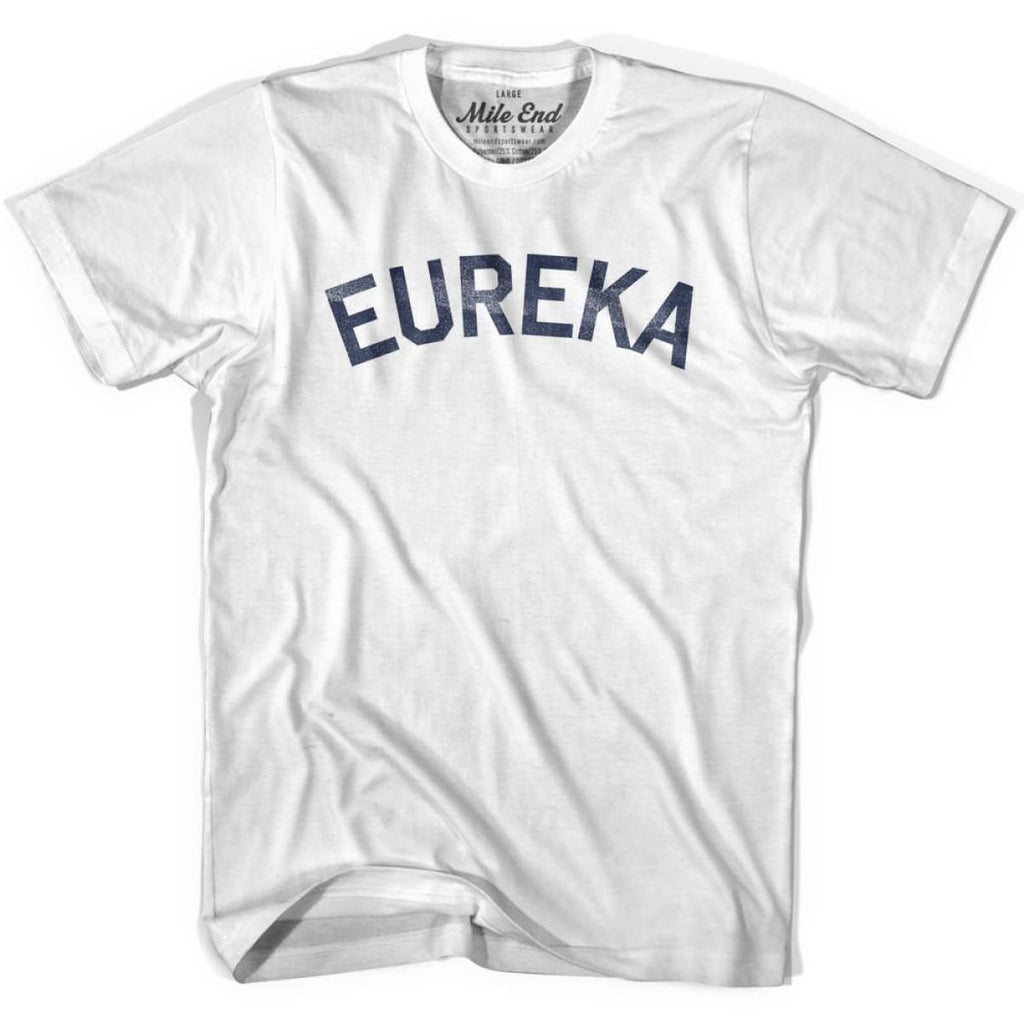 Eureka City Vintage T-shirt - White / Youth X-Small - Mile End City