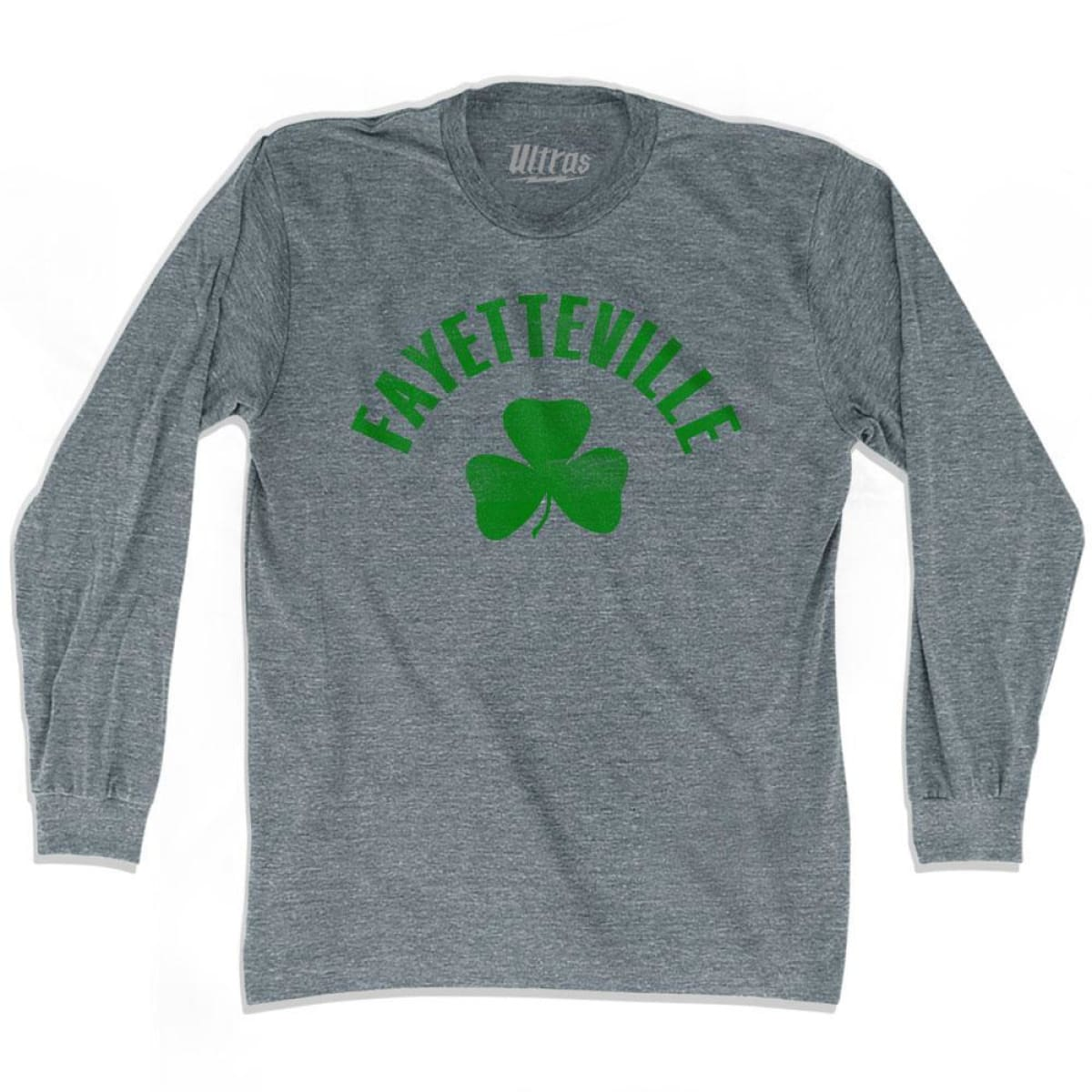 Fayetteville City Shamrock Tri-Blend Long Sleeve T-shirt - Athletic Grey / Adult Small - Shamrock Collection