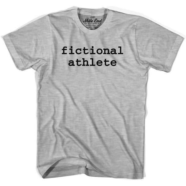 Fictional Athlete T-shirt - Grey Heather / Adult X-Small - Mile End City