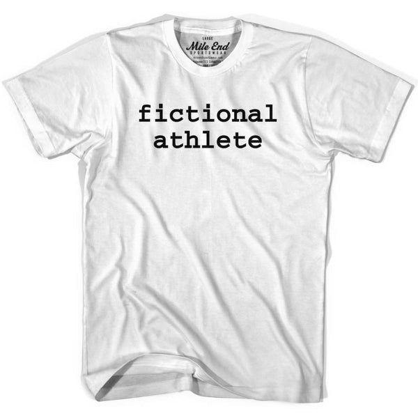 Fictional Athlete T-shirt - White / Adult X-Small - Mile End City