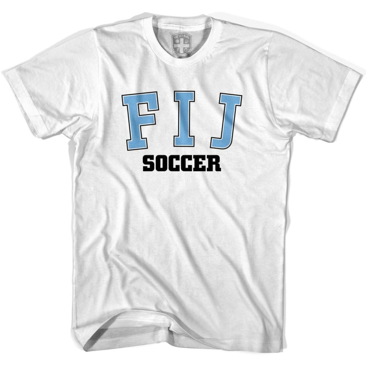 Fiji FIJ Soccer Country Code T-shirt - White / Youth X-Small - Ultras Soccer T-shirts