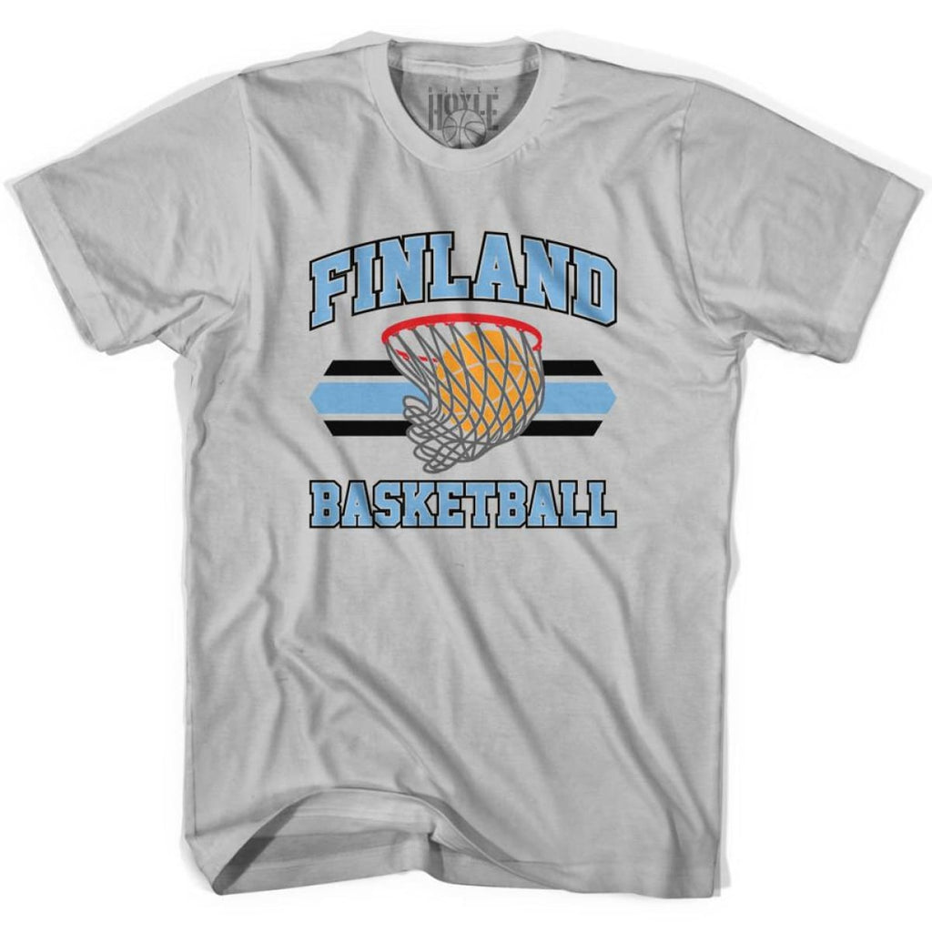 Finland 90s Basketball T-shirts - Silver / Youth X-Small - Basketball T-shirt