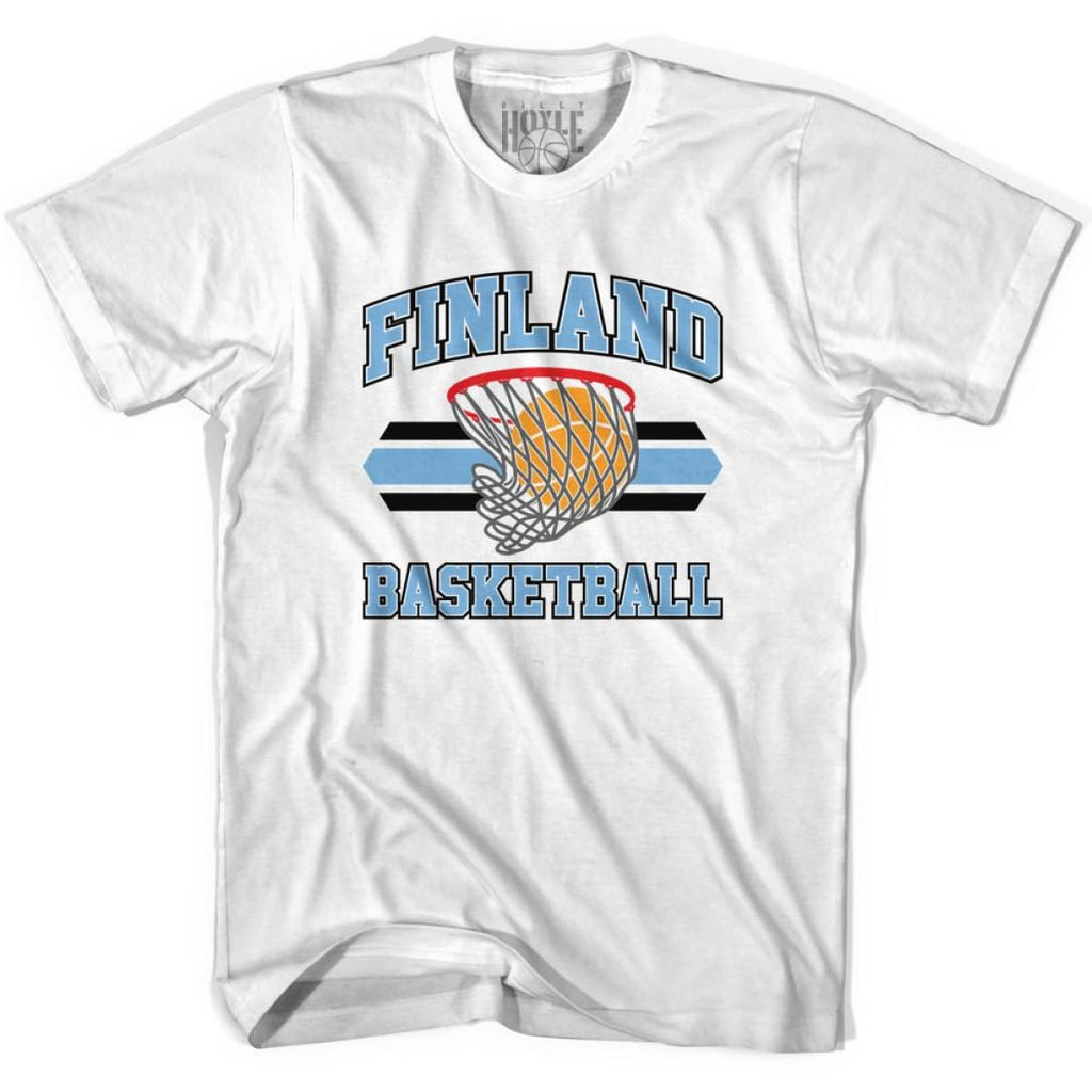 Finland 90s Basketball T-shirts - White / Youth X-Small - Basketball T-shirt