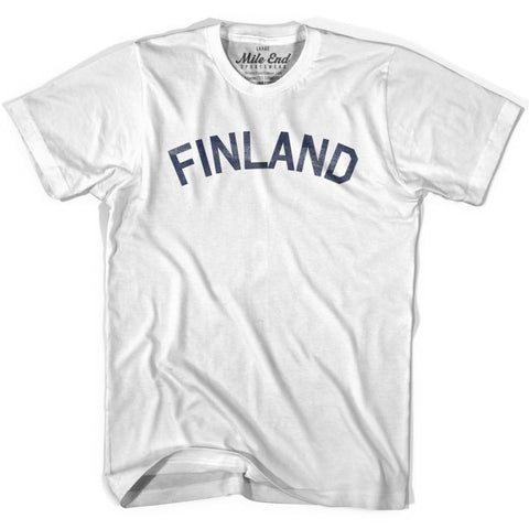 Finland City Vintage T-shirt-Adult - Grey Heather / Adult Small - Mile End City