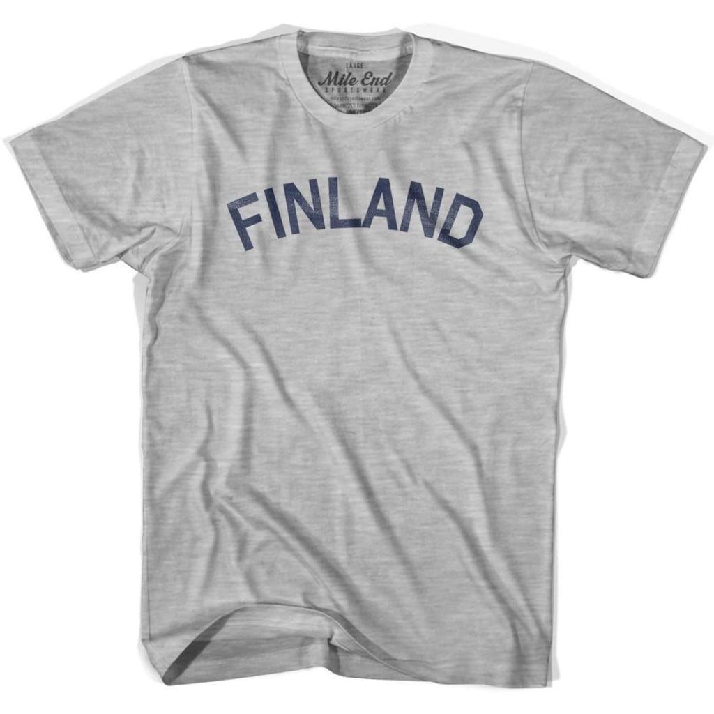 Finland City Vintage T-shirt - Grey Heather / Youth X-Small - Mile End City