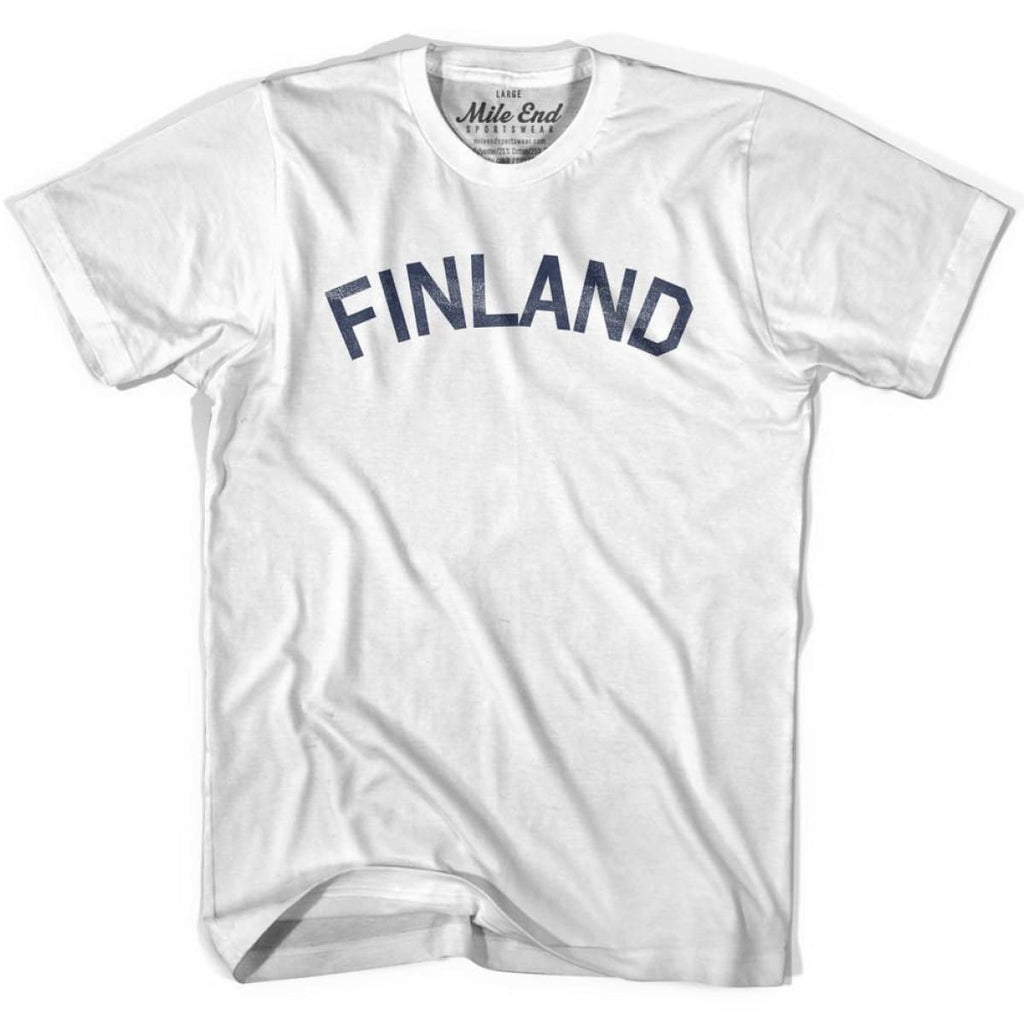 Finland City Vintage T-shirt - White / Youth X-Small - Mile End City