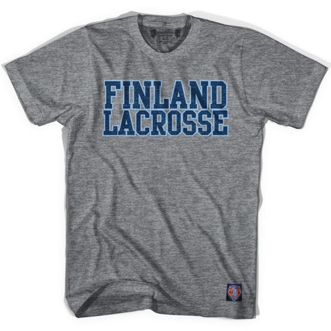 Finland Lacrosse Nation T-shirt - Athletic Grey / Adult X-Small - Lacrosse T-shirt