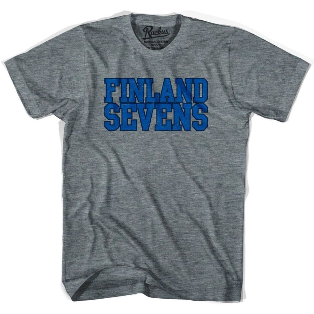 Finland Sevens Rugby T-shirt - Athletic Grey / Adult Small - Rugby T-shirt