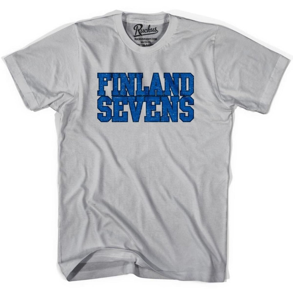 Finland Sevens Rugby T-shirt - Cool Grey / Youth X-Small - Rugby T-shirt
