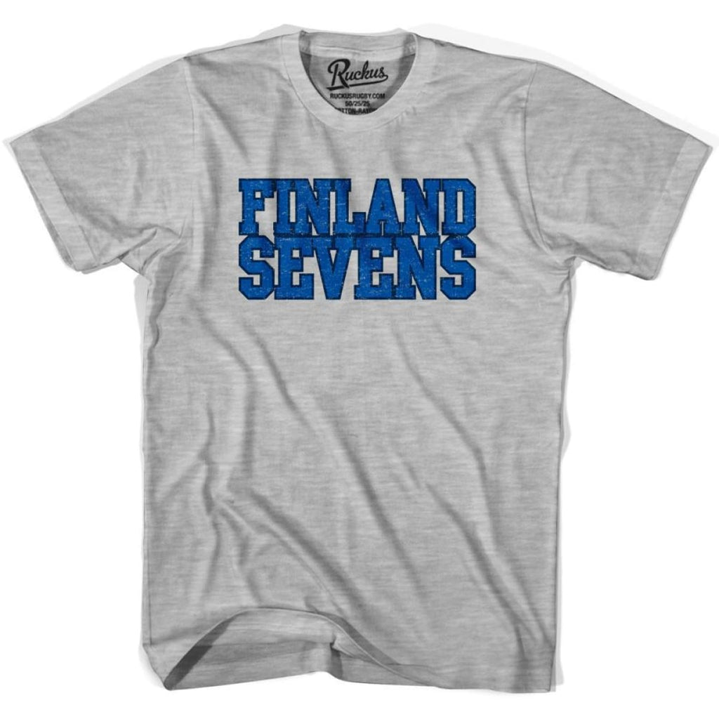 Finland Sevens Rugby T-shirt - Heather Grey / Youth X-Small - Rugby T-shirt