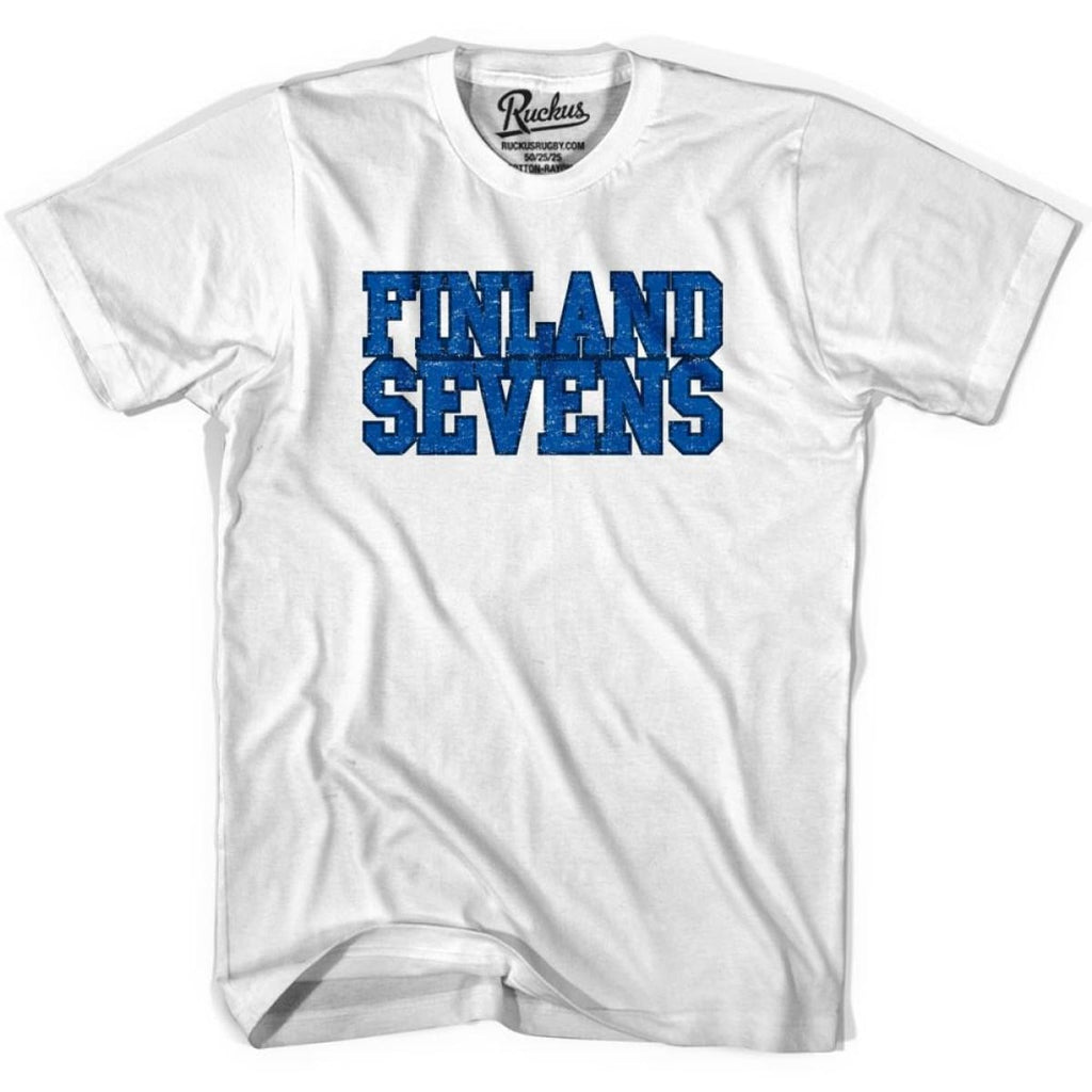Finland Sevens Rugby T-shirt - White / Youth X-Small - Rugby T-shirt