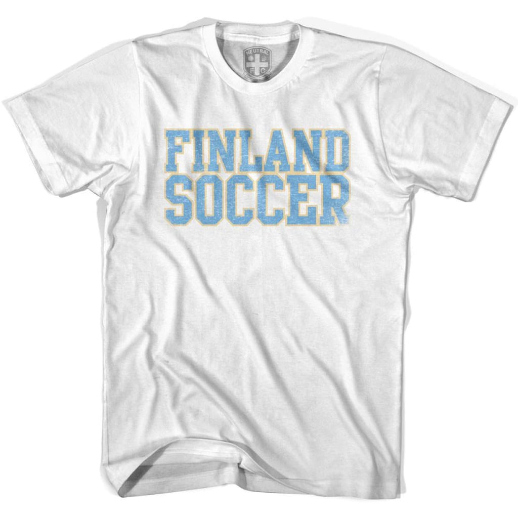 Finland Soccer Nations World Cup T-shirt - White / Youth X-Small - Ultras Soccer T-shirts