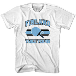 Finland Table Tennis Adult Cotton T-shirt - White / Adult Small - Table Tennis T-shirts