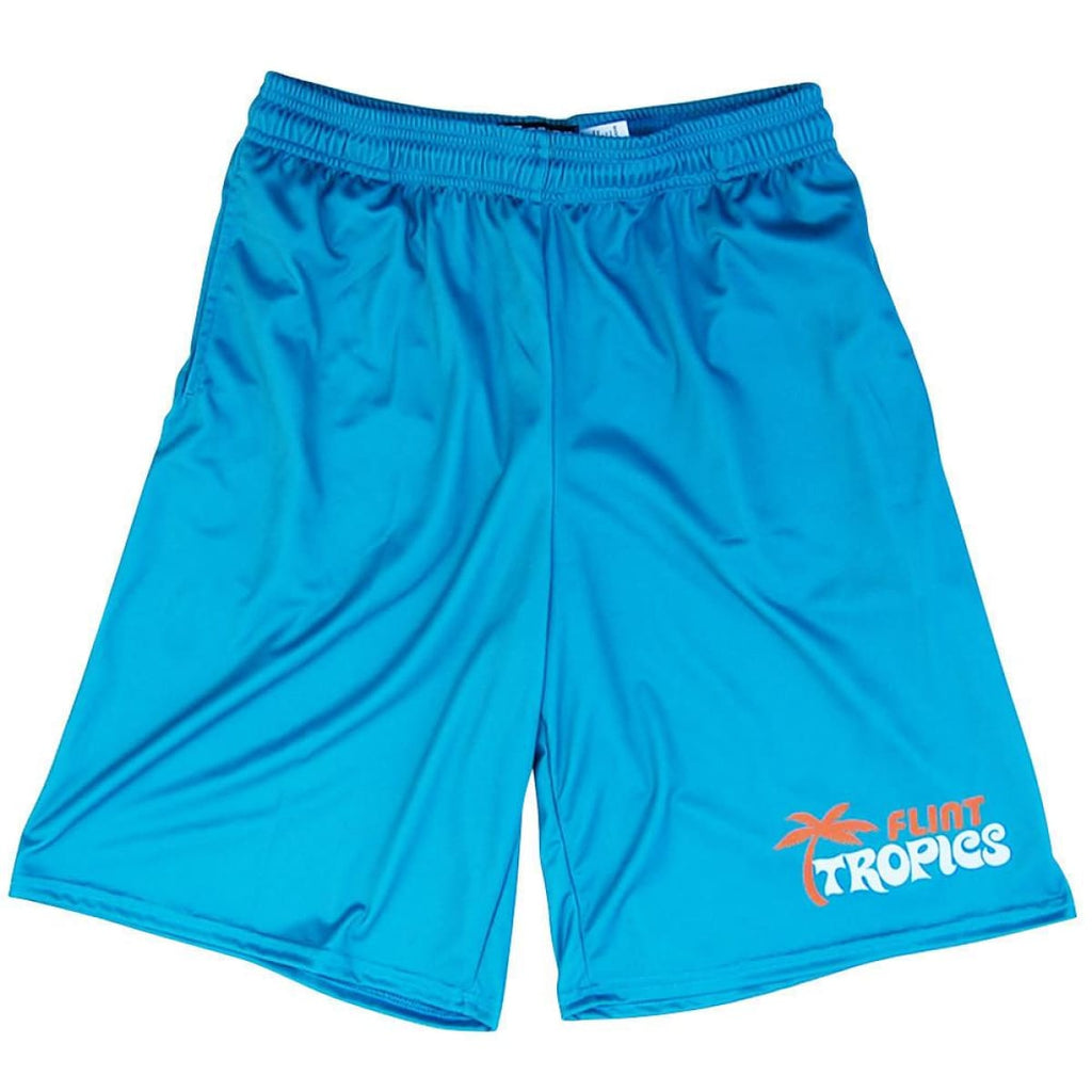 Flint Tropics Basketball Shorts - Aqua / Youth X-Small - Basketball Shorts