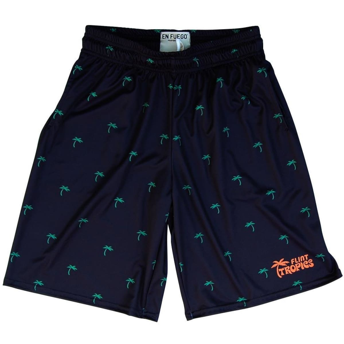 Flint Tropics Palms Basketball Shorts - black / Youth X-Small - Basketball Shorts