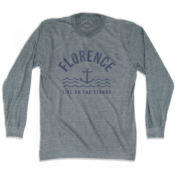 Florence Anchor Life on the Strand Long Sleeve T-shirt - Athletic Grey / Adult X-Small - Life on the Strand Anchor