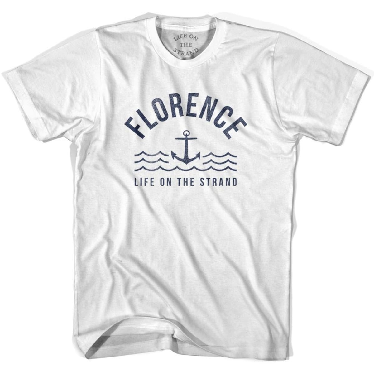 Florence Anchor Life on the Strand T-shirt - White / Youth X-Small - Life on the Strand Anchor