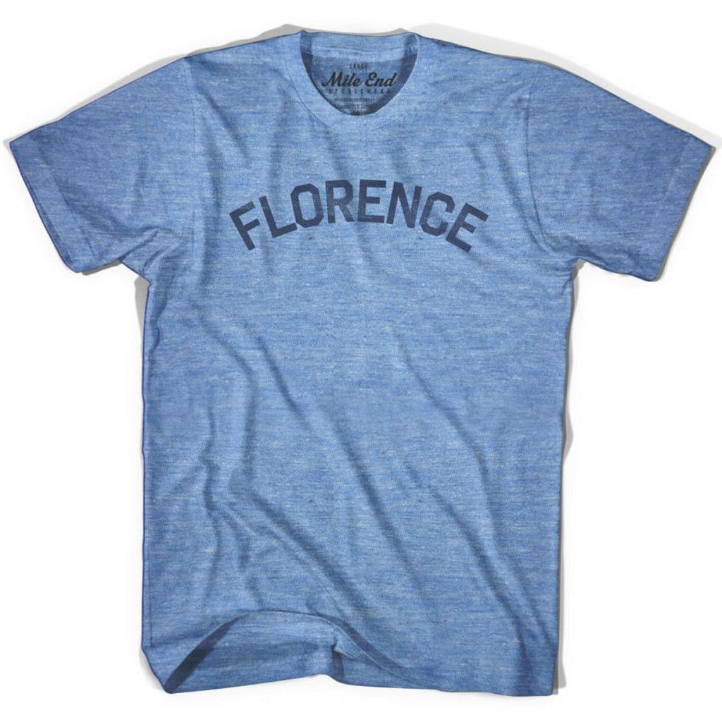 Florence City Vintage T-shirt - Athletic Blue / Adult X-Small - Mile End City