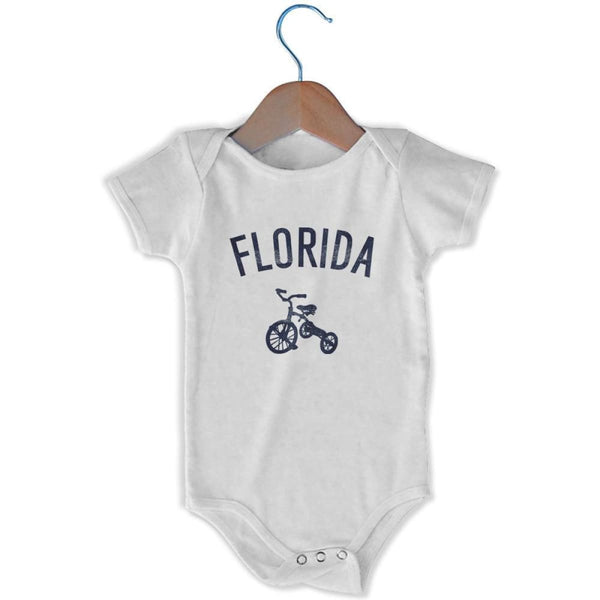 Florida City Tricycle Infant Onesie - White / 6 - 9 Months - Mile End City