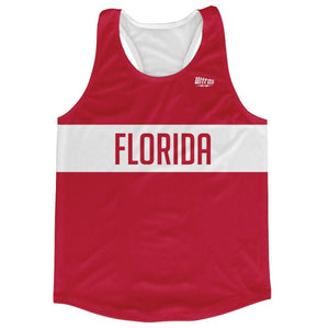 Florida Finish Line Running Tank Top Racerback Track and Cross Country Singlet Jersey - White / Adult X-Small - Running Top