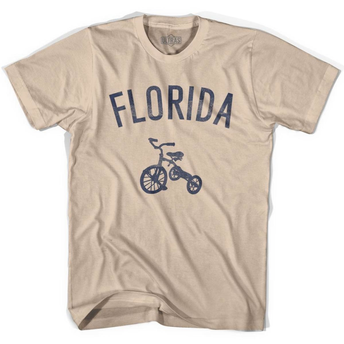 Florida State Tricycle Adult Cotton T-shirt - Creme / Adult Small - Tricycle State