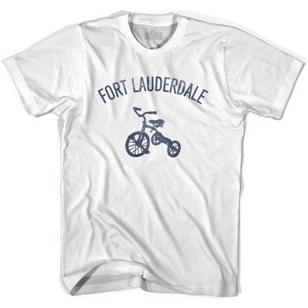 Fort Lauderdale City Tricycle Womens Cotton T-shirt - Tricycle City
