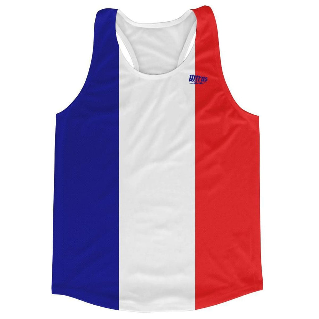 Ultras France Country Flag Running Tank Top Racerback Track And