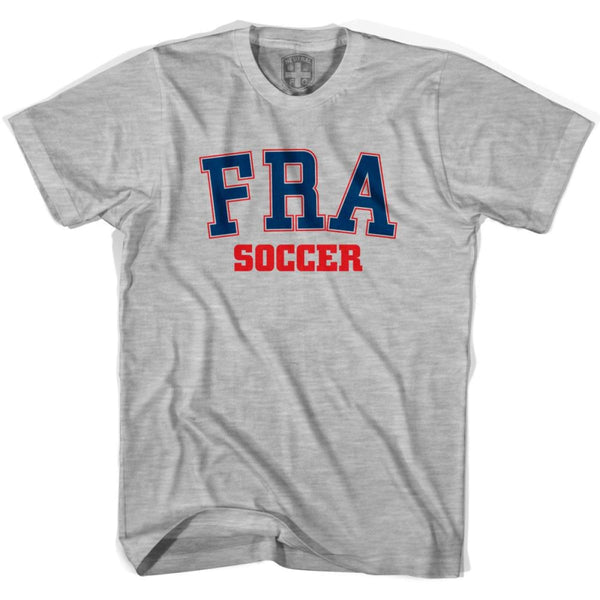 France FRA Soccer Country Code T-shirt - Grey Heather / Youth X-Small - Ultras Soccer T-shirts