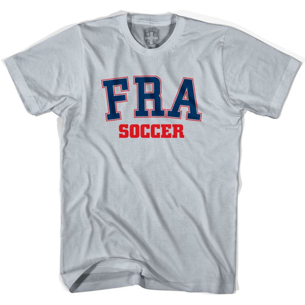France FRA Soccer Country Code T-shirt - Silver / Youth X-Small - Ultras Soccer T-shirts