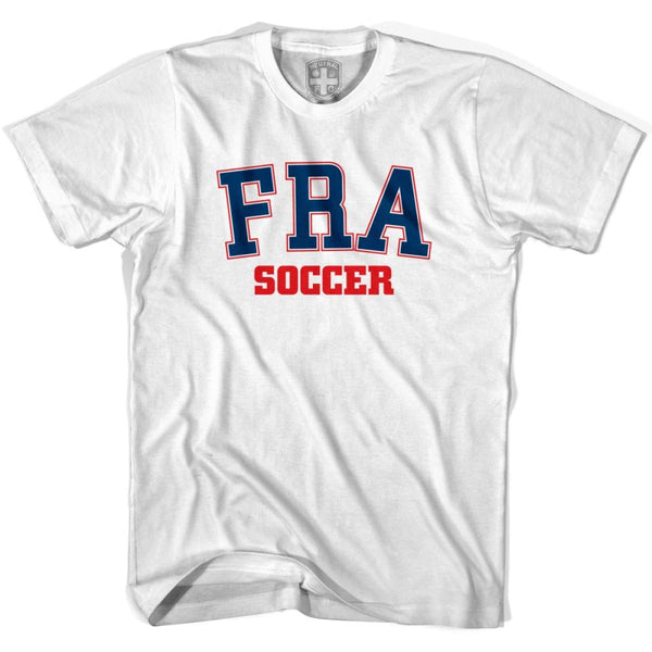 France FRA Soccer Country Code T-shirt - White / Youth X-Small - Ultras Soccer T-shirts
