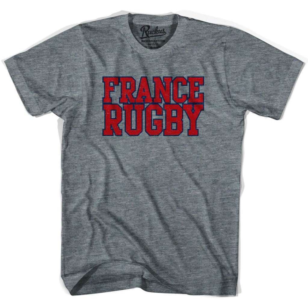 France Rugby Nations T-shirt - Athletic Grey / Adult Small - Rugby T-shirt