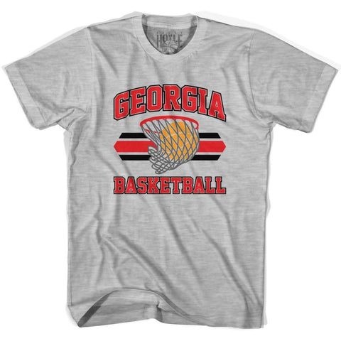 Georgia 90s Basketball T-shirts - Grey Heather / Youth X-Small - Basketball T-shirt