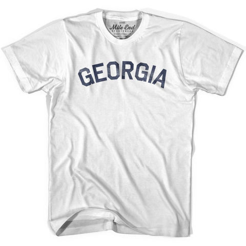 Georgia City Vintage T-shirt - White / Youth X-Small - Mile End City