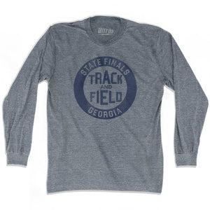 Georgia State Finals Track and Field Adult Tri-Blend Long Sleeve T-shirt - Athletic Grey / Adult Small - Track and Field