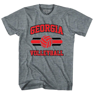 Georgia 90's Volleyball Team Tri-Blend Adult T-shirt