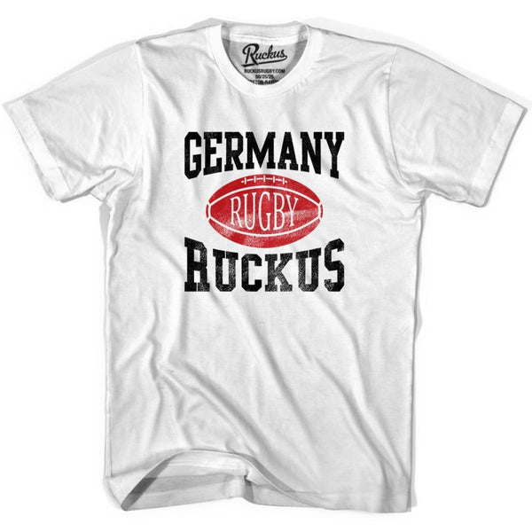 Germany Ruckus Rugby T-shirt - White / Youth X-Small - Rugby T-shirt