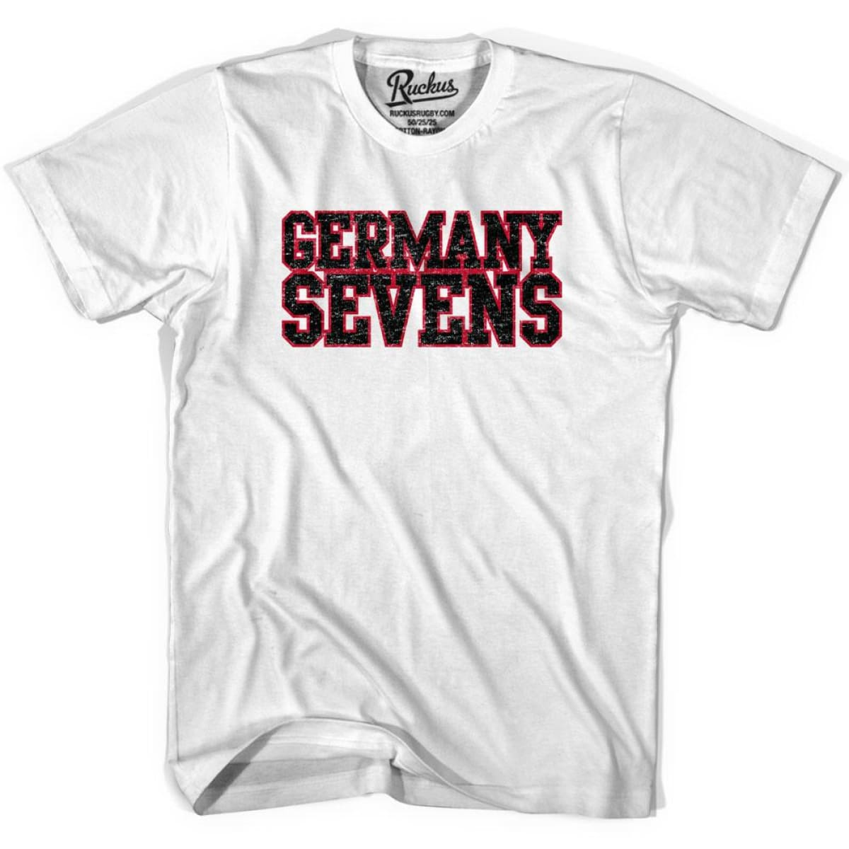 Germany Sevens (Navy Version) Rugby T-shirt - White / Youth X-Small - Rugby T-shirt