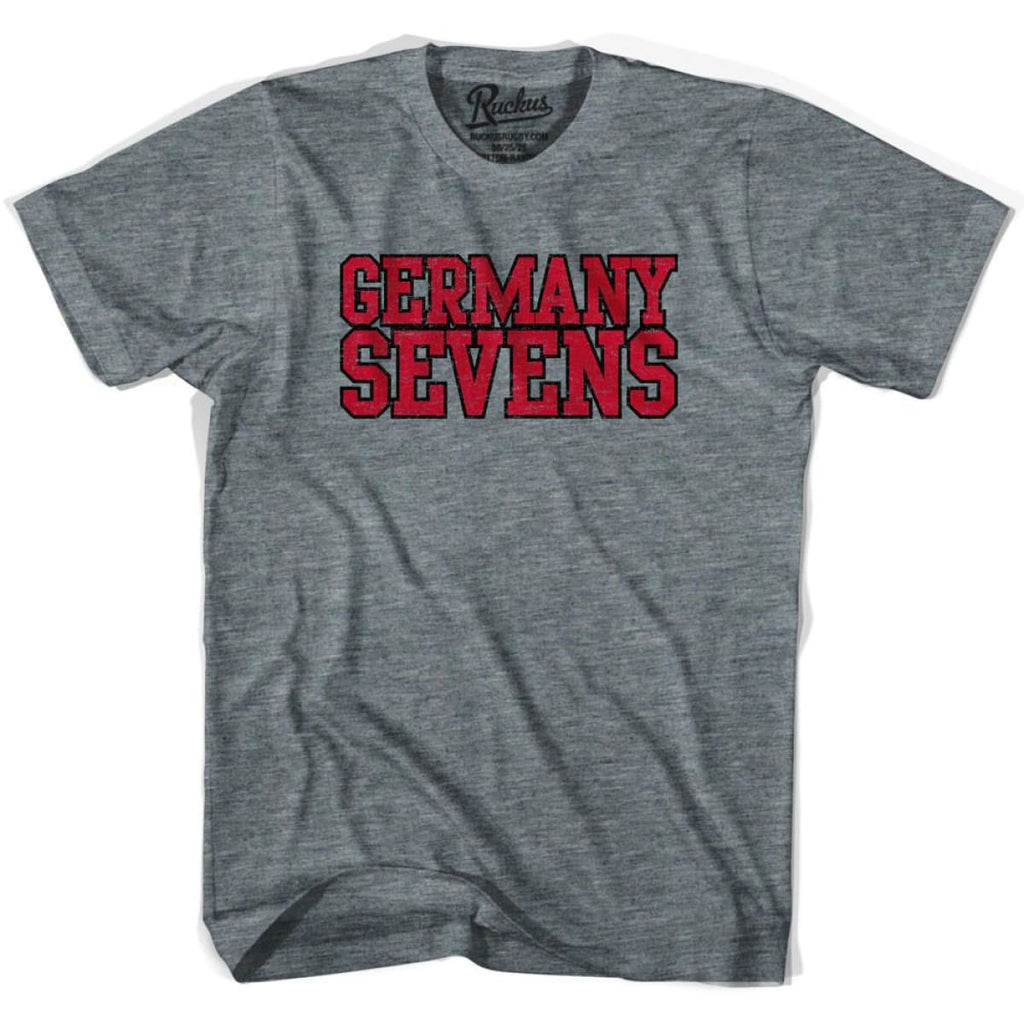 Germany Sevens Rugby T-shirt - Athletic Grey / Adult Small - Rugby T-shirt