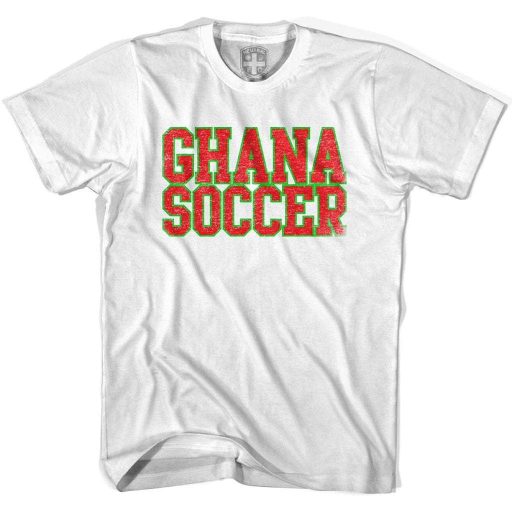 Ghana Soccer Nations World Cup T-shirt - White / Youth X-Small - Ultras Soccer T-shirts
