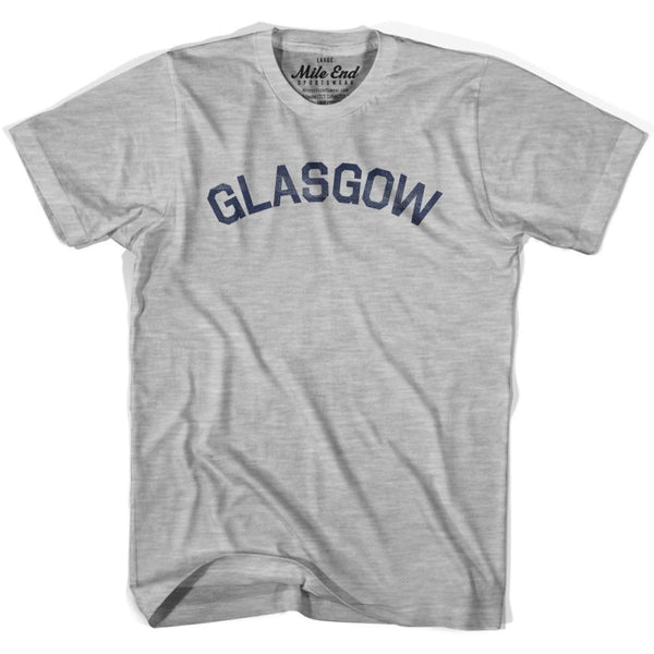 Glasgow City Vintage T-shirt - Grey Heather / Youth X-Small - Mile End City