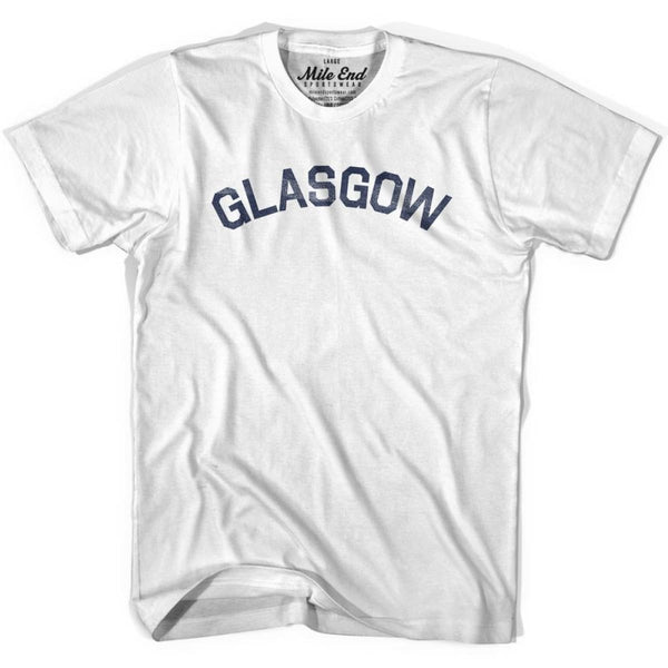 Glasgow City Vintage T-shirt - White / Youth X-Small - Mile End City