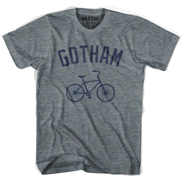 Gotham Vintage Bike T-shirt-Adult - Athletic Grey / Adult X-Small - Vintage Bike T-shirt