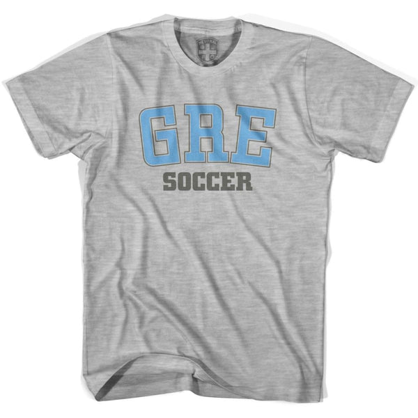 Greece GRE Soccer Country Code T-shirt - Grey Heather / Youth X-Small - Ultras Soccer T-shirts