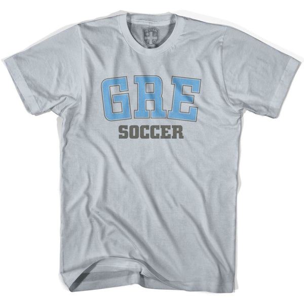 Greece GRE Soccer Country Code T-shirt - Silver / Youth X-Small - Ultras Soccer T-shirts